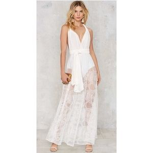 Nasty gal white lace dress